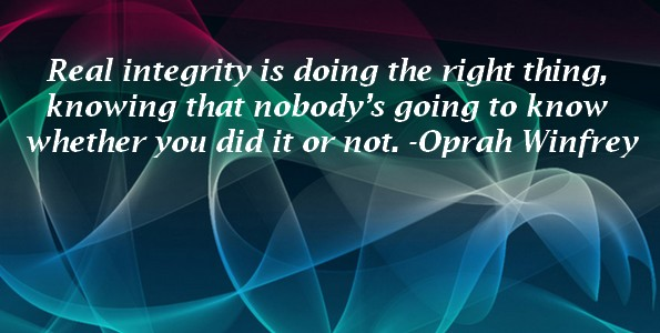 Real Integrity -Oprah