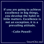 Excellence is a prevailing attitude